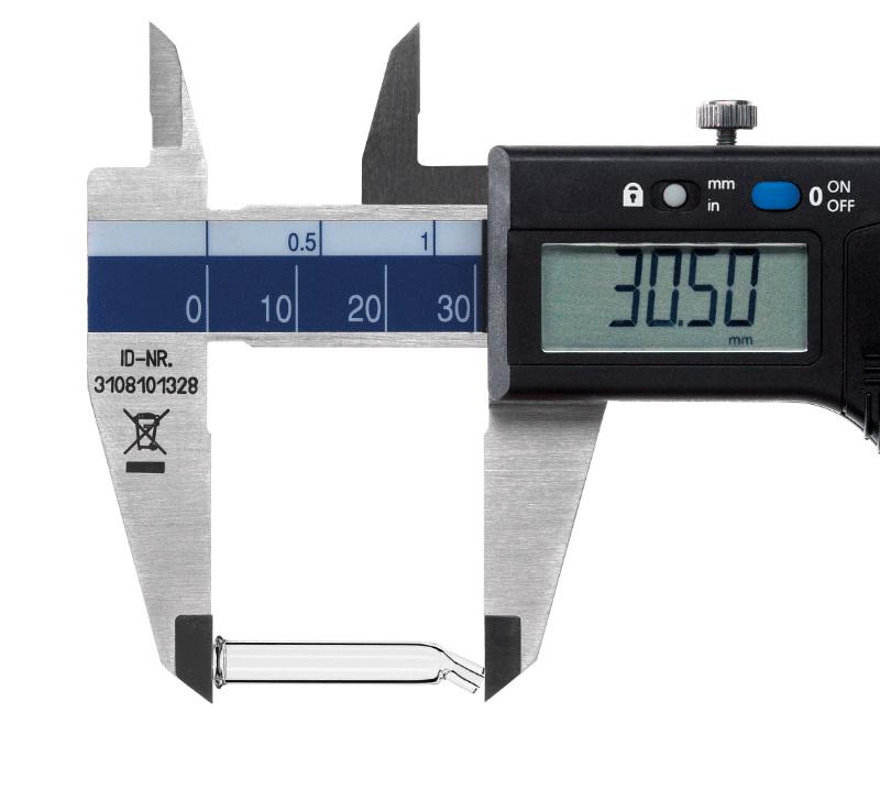 Pipetas de cristal calibrador de precisión