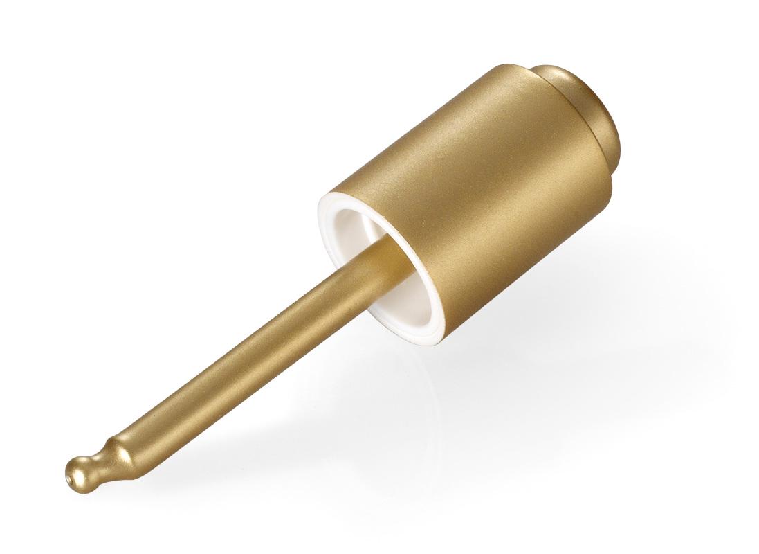 Monture cosmétique avec bouton-pression or mat