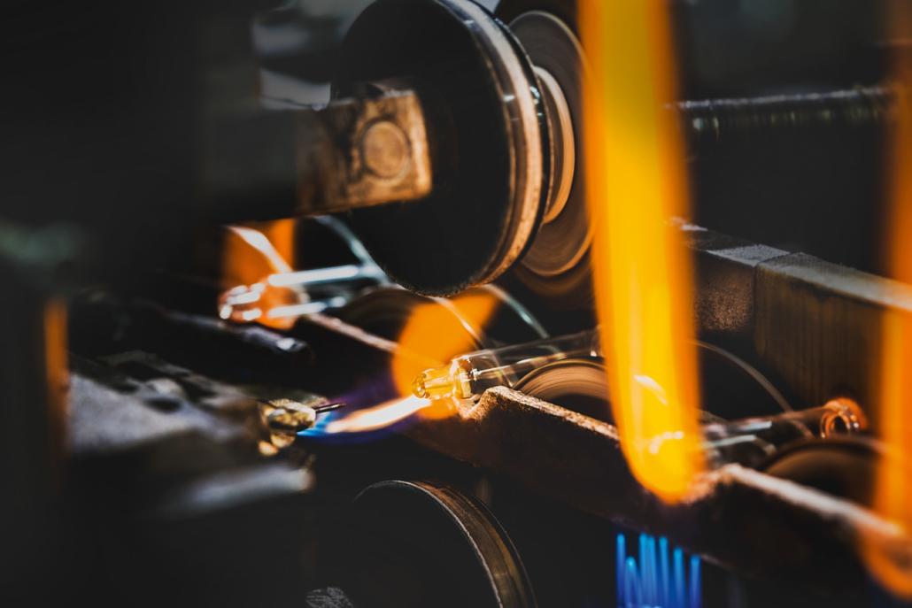 Production pipettes en verre