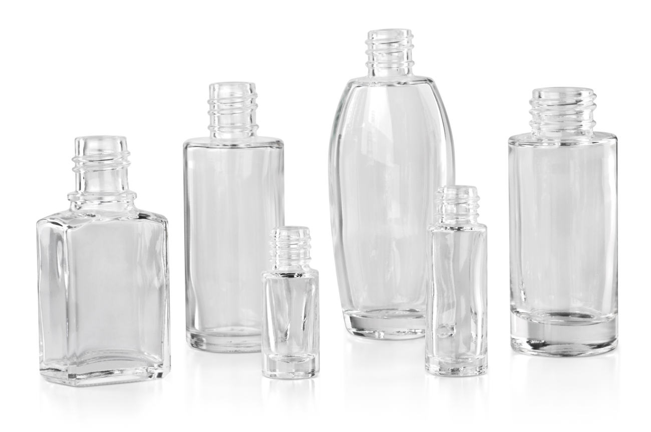 Blow-moulded bottles for cosmetics