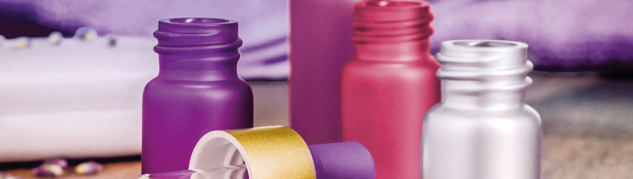 Flacons cosmétiques en verre