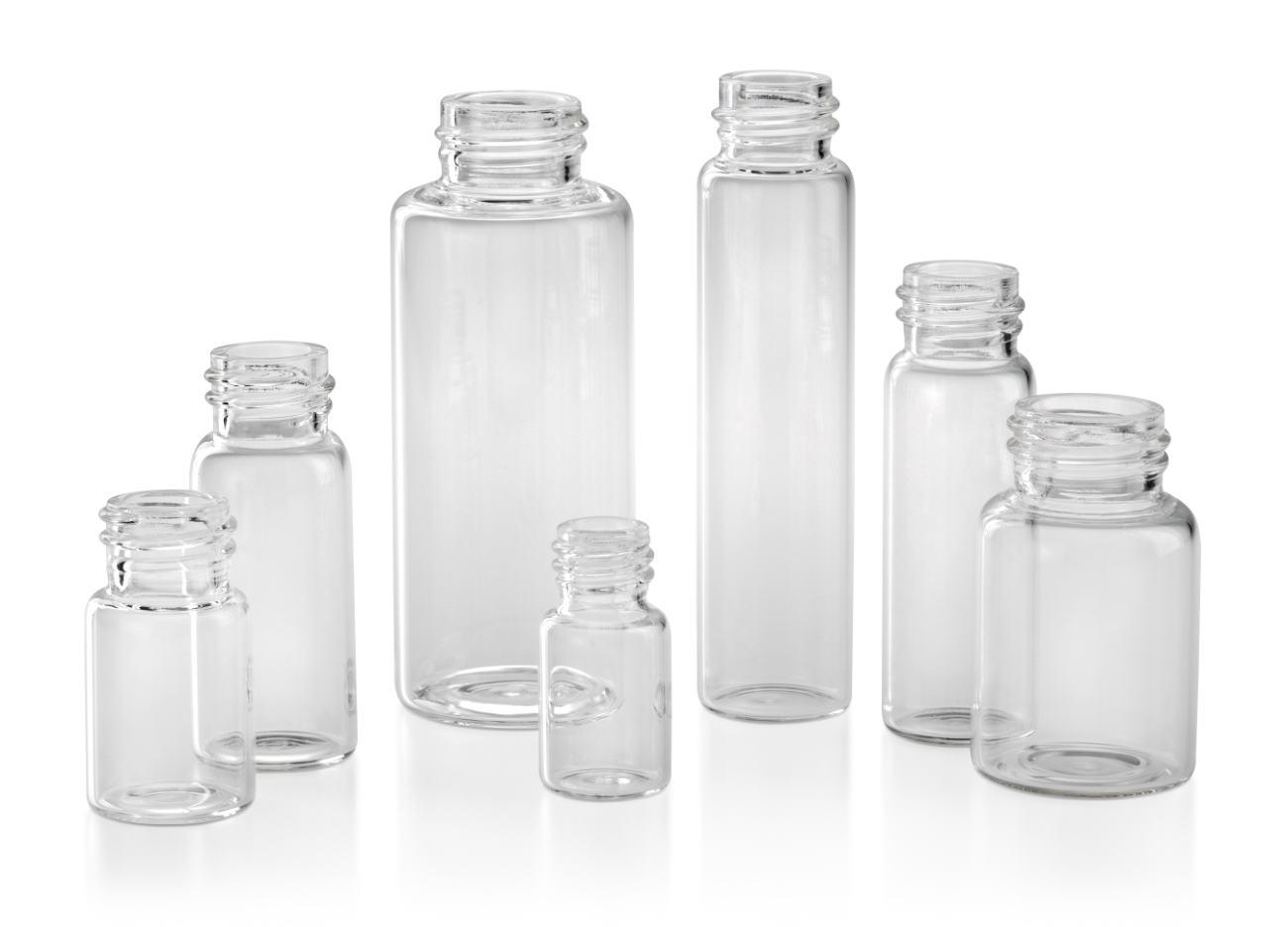 Flacons pharmaceutiques en verre: verre étiré clair