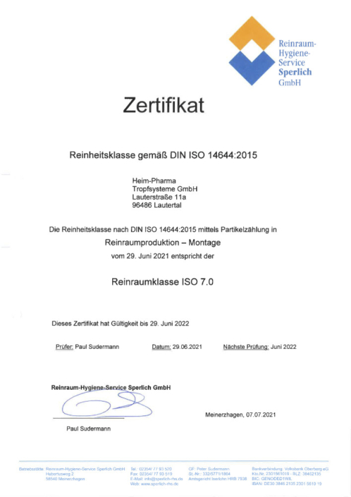 DIN-ISO 14644 Reinraumproduktion Montage