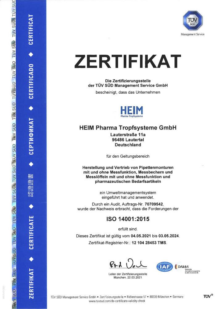 Umweltnorm ISO 14001